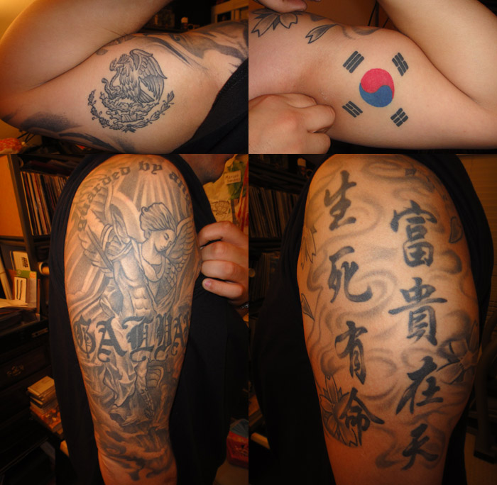 HalfKorean.com: Mixed Korean Tattoo Project